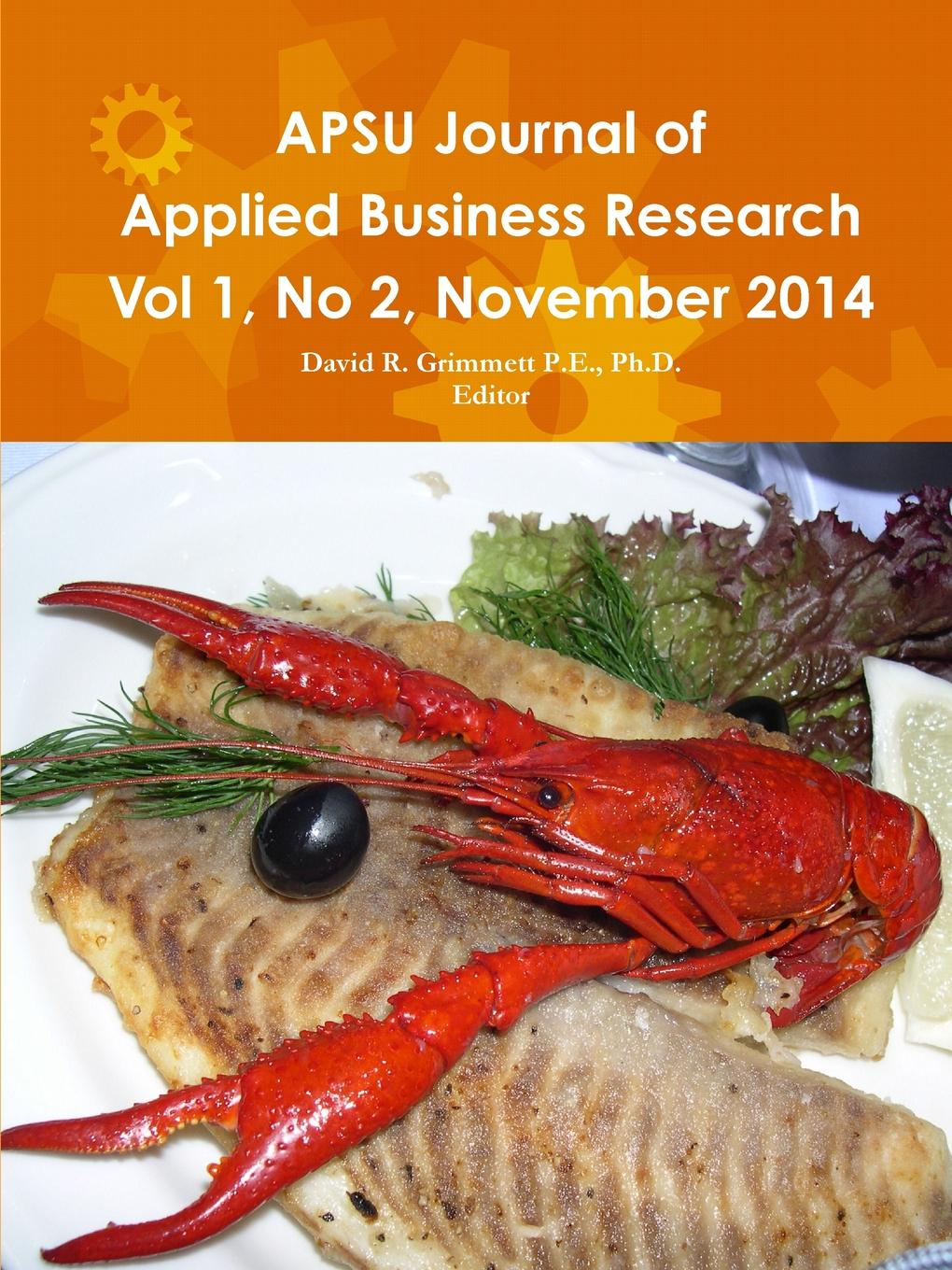 APSU JABR Vol 1, No 2, November 2014 A Journal Presentation Format for the use of Graduate Students...