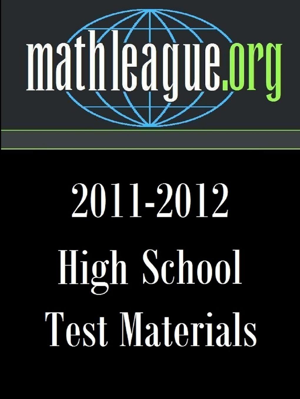 Tim Sanders High School Test Materials 2011-2012