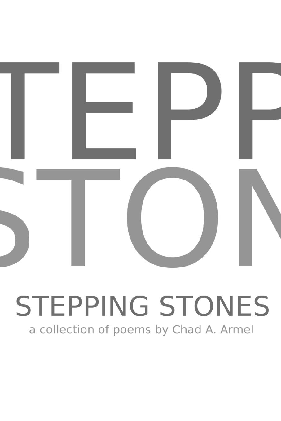 Chad A. Armel Stepping Stones missing out a praise of the unlived life