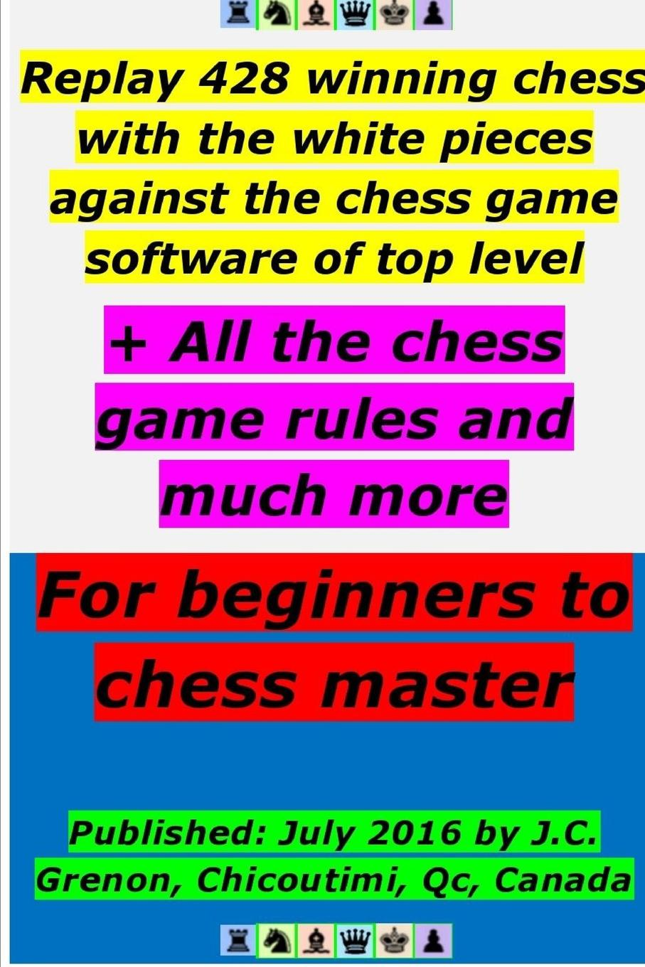 J.C. Grenon Replay 428 winning chess with the white pieces against the high chess software . All the chess rules and much more master of the game м sheldon