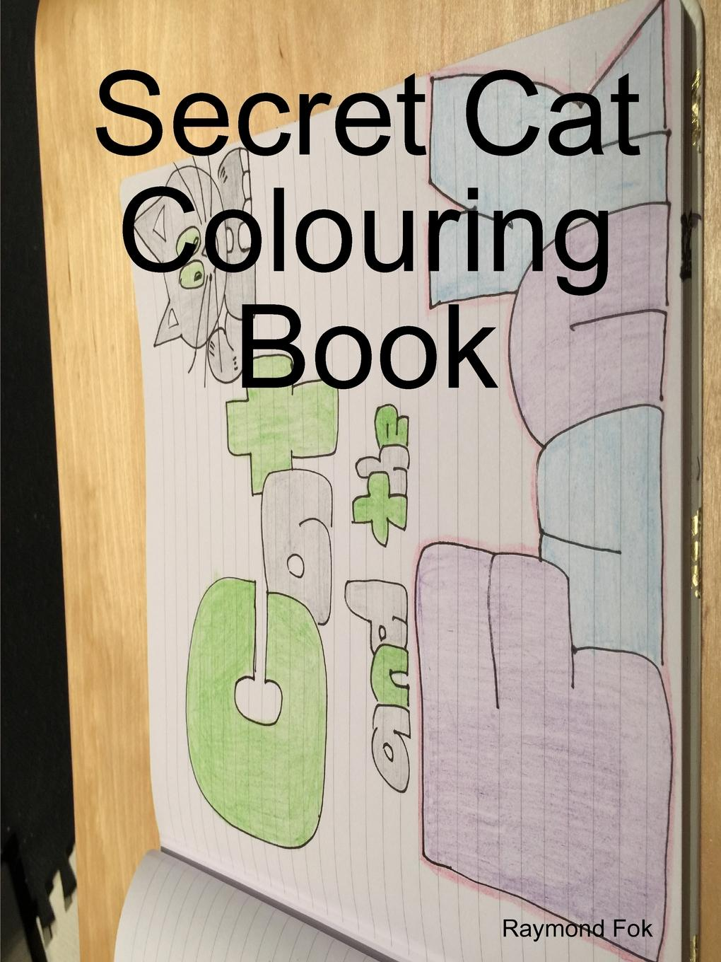Raymond Fok Secret Cat Colouring Book цена 2017