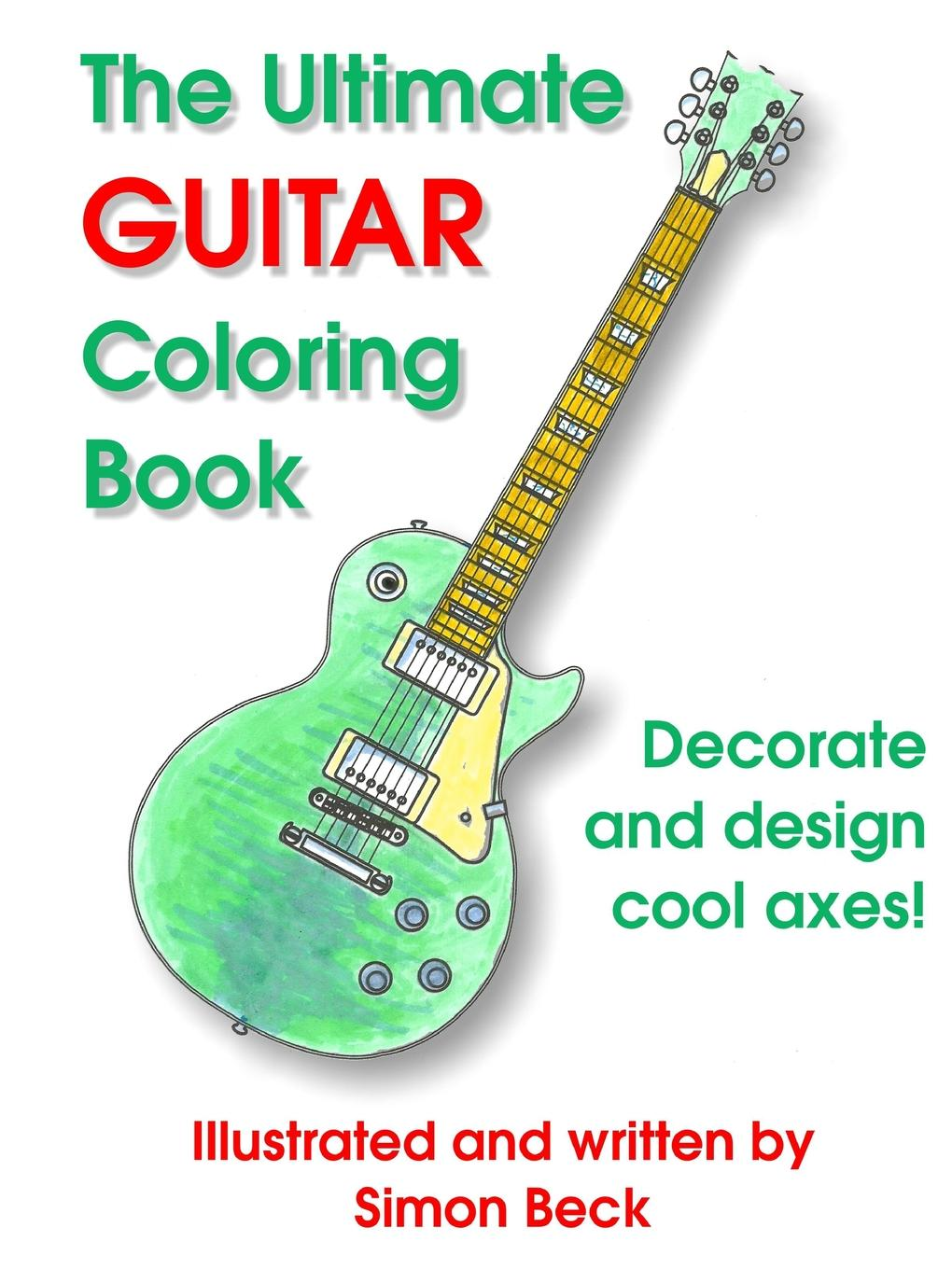 Simon Beck The Ultimate Guitar Coloring Book 2016 new 38 acoustic guitar 38 18 high quality guitarra musical instruments with guitar strings