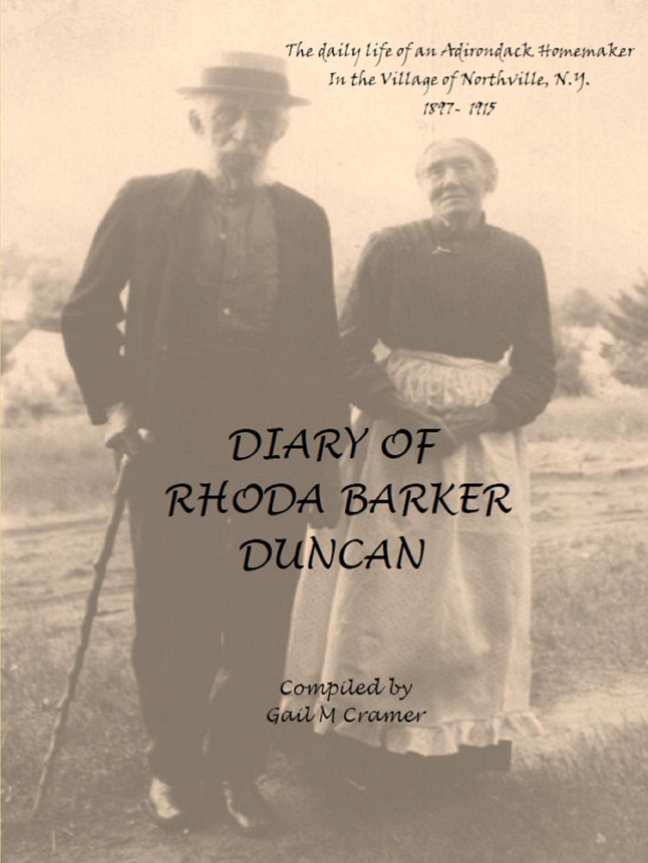 Gail Cramer Diary of Rhoda Barker Duncan lacywear s 164 log