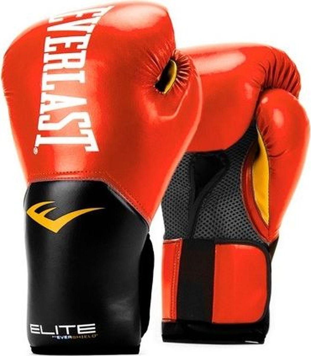 Боксерские перчатки Everlast Elite ProStyle, тренировочные, P00001243-8, красный, вес 8 унций