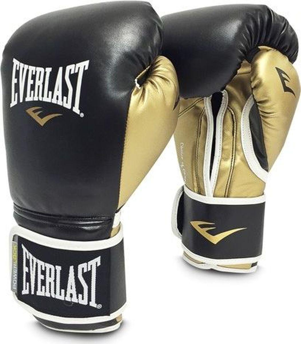 Боксерские перчатки Everlast Powerlock, тренировочные, P00000723-10, черный, золотой, вес 10 унций мультитул powerlock eod black oxide черный sog