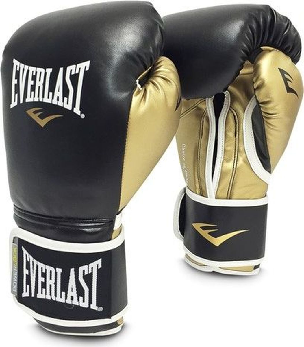 Боксерские перчатки Everlast Powerlock, тренировочные, P00000724, черный, золотой, вес 16 унций мультитул powerlock eod black oxide черный sog