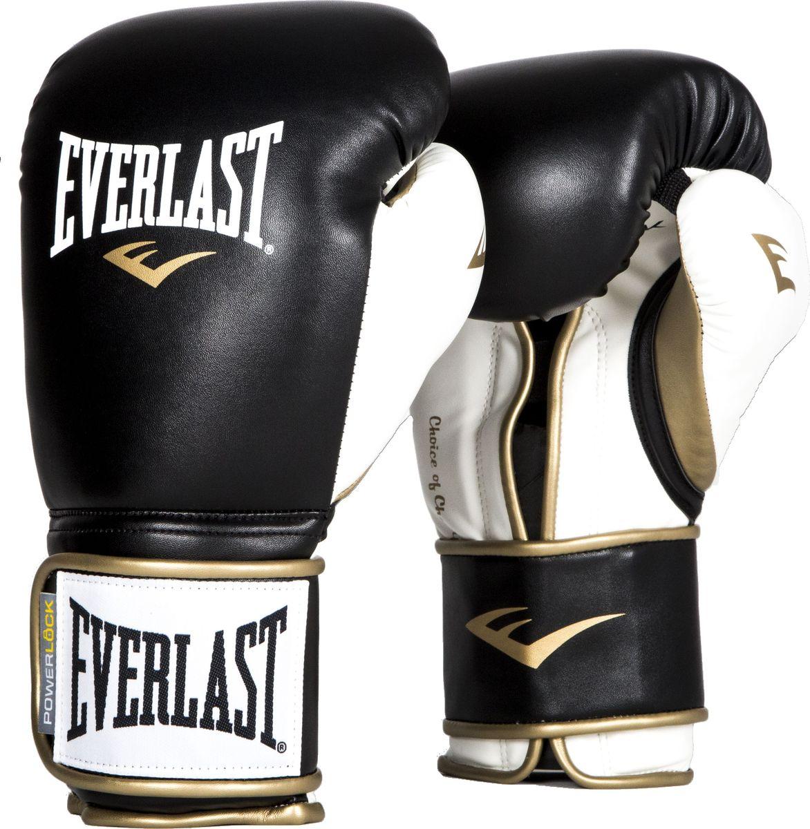 Боксерские перчатки Everlast Powerlock, тренировочные, P00000725, черный, белый, вес 14 унций мультитул powerlock eod black oxide черный sog