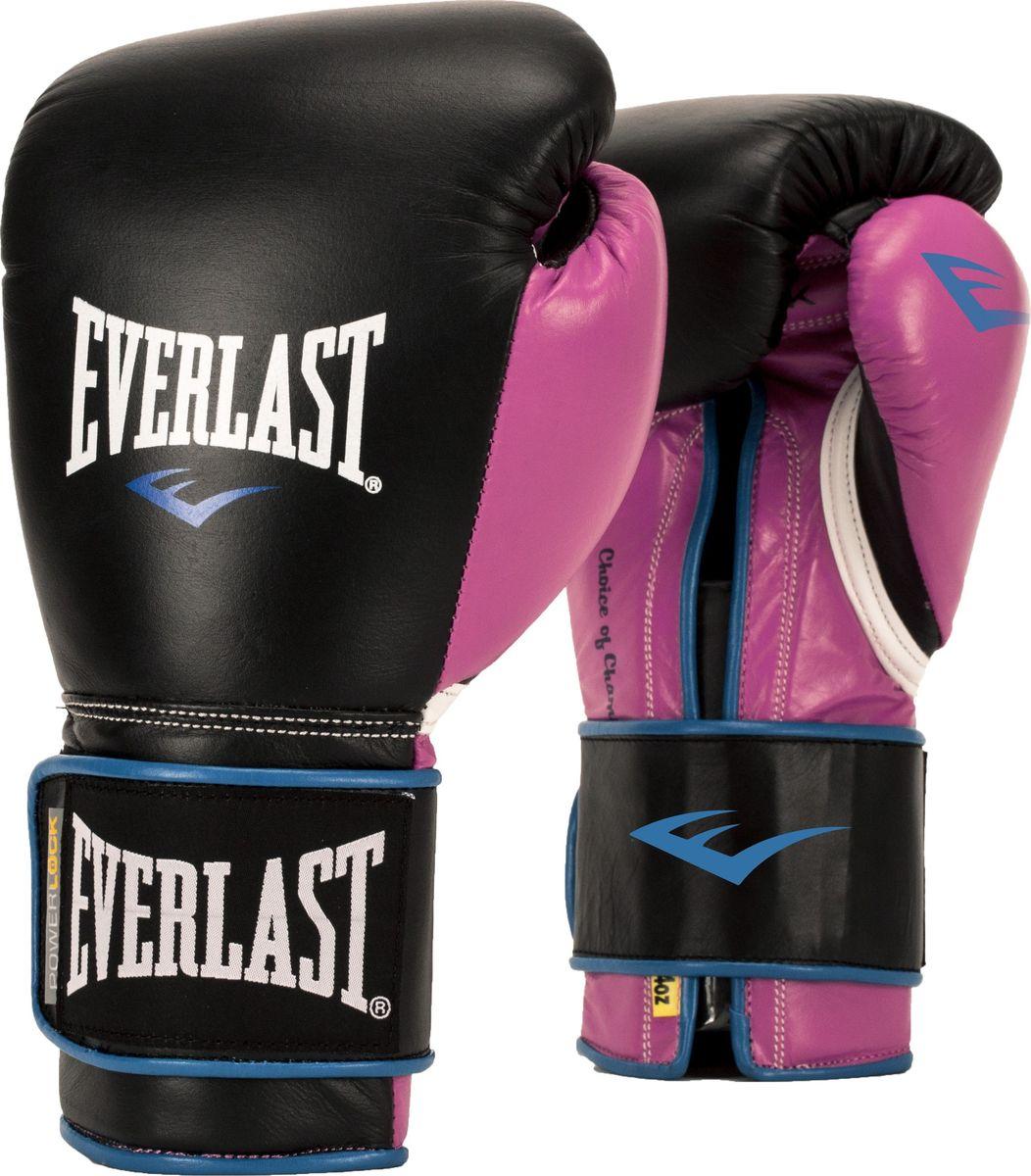 Боксерские перчатки Everlast Powerlock, тренировочные, P00000745, черный, розовый, вес 12 унций мультитул powerlock eod black oxide черный sog
