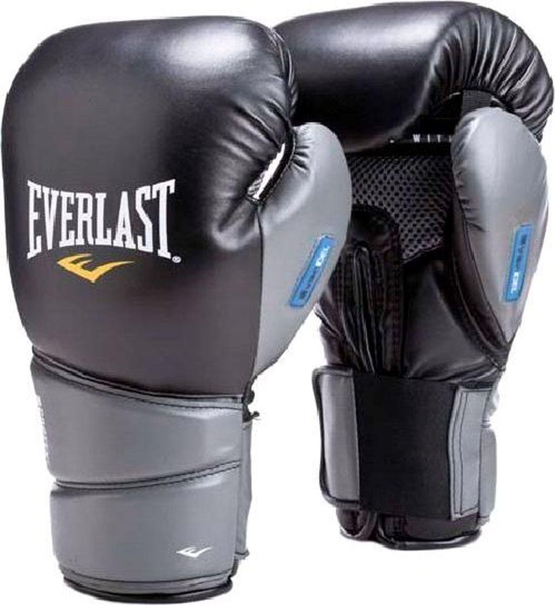 Боксерские перчатки Everlast Protex2 Gel, тренировочные, 3114GLLXLU, черный, вес 14 унций, размер L/XL цена