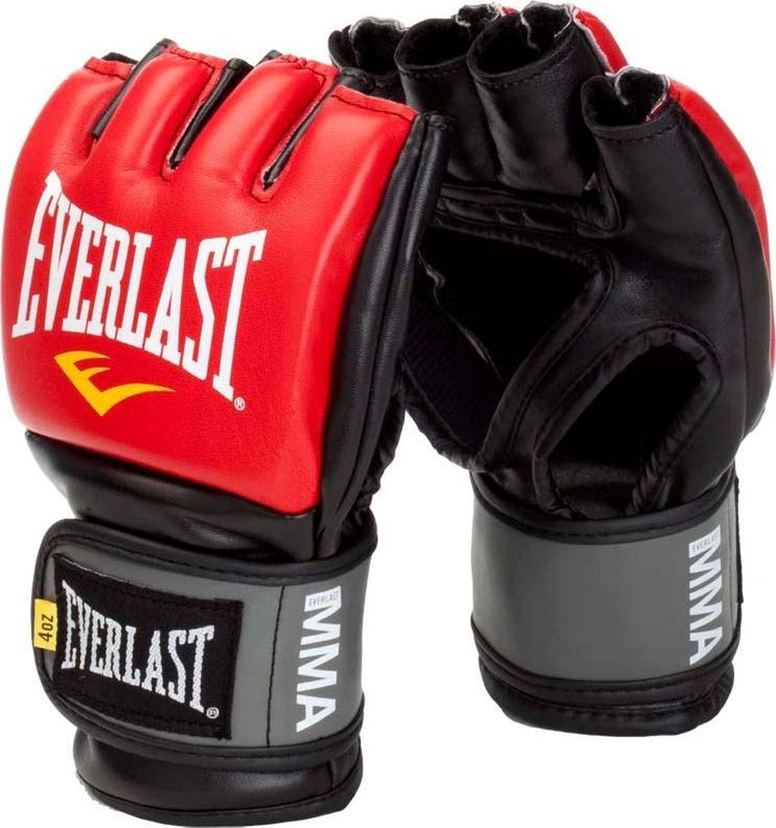 Перчатки для единоборств Everlast Pro Style Grappling, тренировочные, 7778RSMU, красный, размер S/M цена и фото