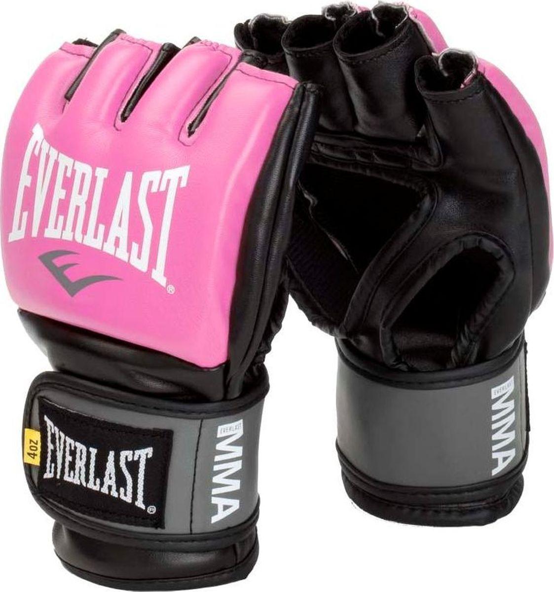 Перчатки для единоборств Everlast Pro Style Grappling, тренировочные, 7778PLXLU, розовый, размер L/XL цена