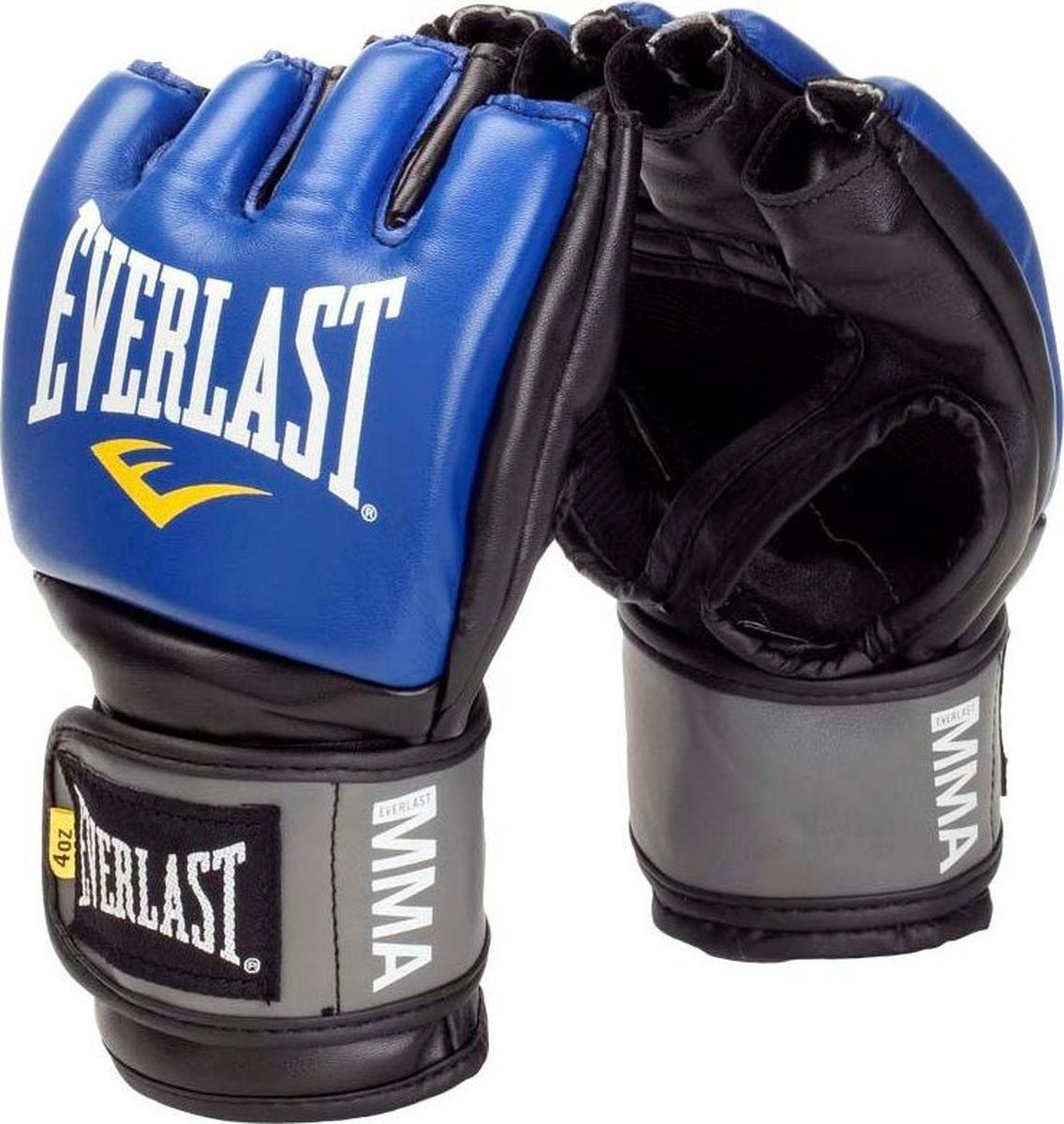 Перчатки для единоборств Everlast Pro Style Grappling, тренировочные, 7778RBLXLU, синий, размер L/XL цена