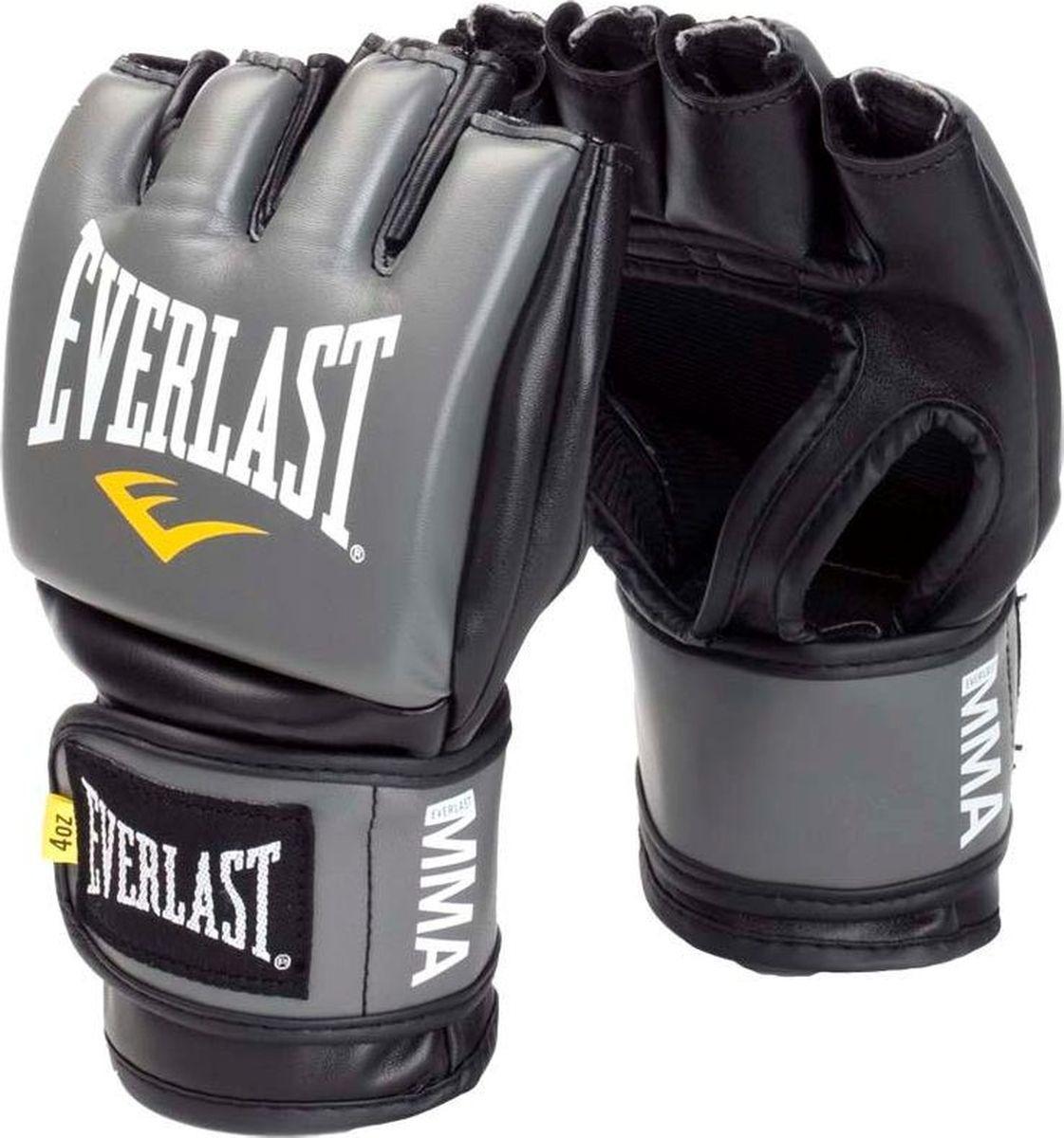 Перчатки для единоборств Everlast Pro Style Grappling, тренировочные, 7778GSMU, серый, размер S/M цена и фото