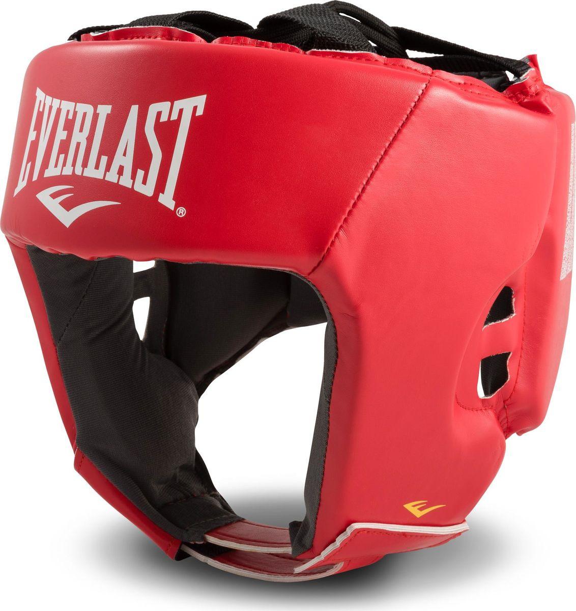 Шлем боксерский Everlast Amateur Competition, 610600-10 PU, красный, размер XL шлем боксерский rsc pu bf bx 208 00026585 красный размер xl