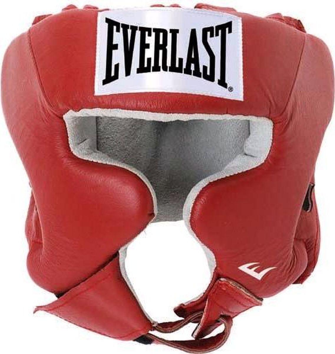 Шлем боксерский Everlast USA Boxing Cheek, 620200U, красный, размер M цена