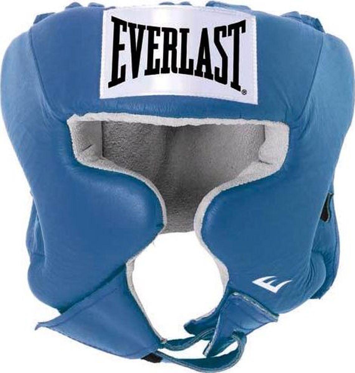 Шлем боксерский Everlast USA Boxing Cheek, 620406U, синий, размер L цена