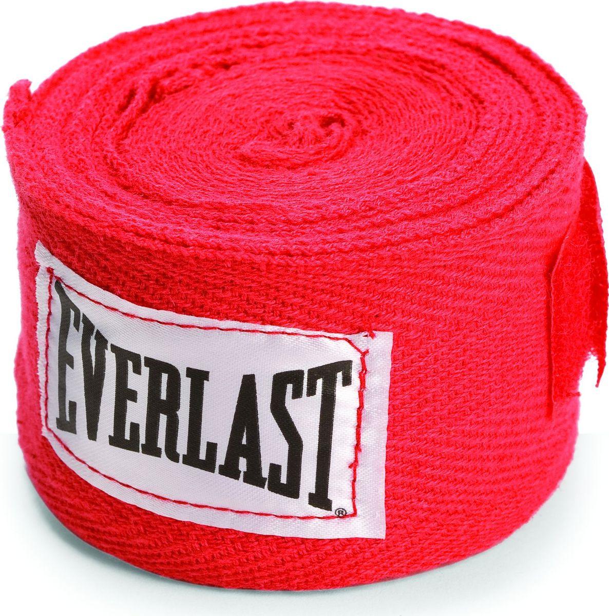 Боксерский бинт Everlast, 4465RD, красный, 2,5 м