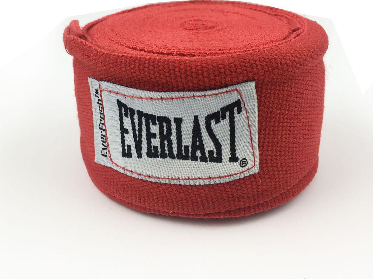 Боксерский бинт Everlast Elastic, 4464RD, красный, 3,5 м