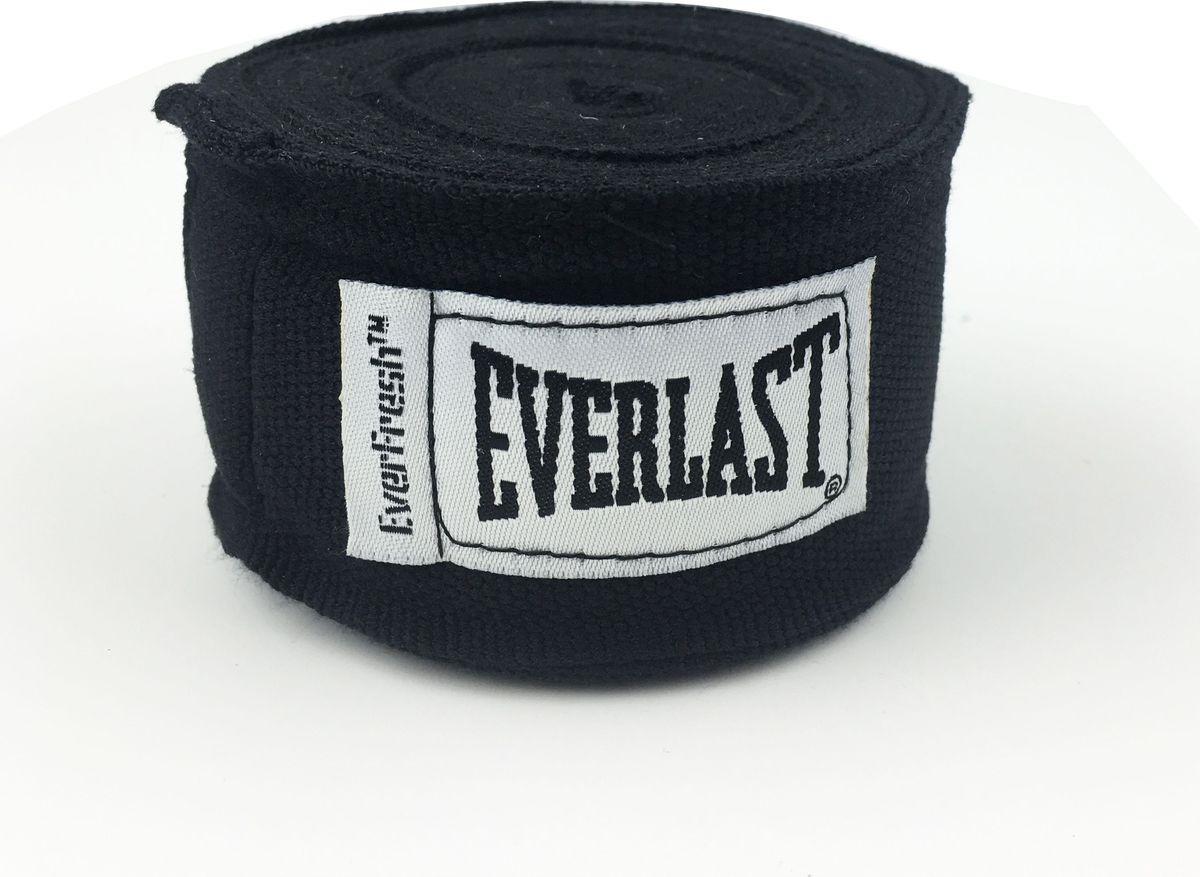Боксерский бинт Everlast Elastic, 4464BK, черный, 3,5 м