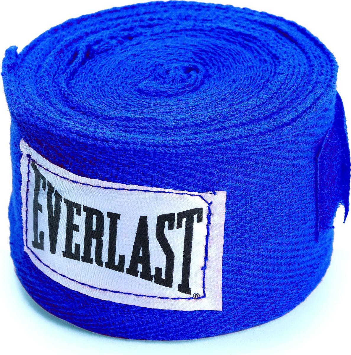 Боксерский бинт Everlast, 4466BL, синий, 3,5 м