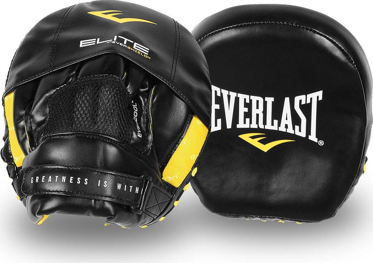 Лапы боксерские Everlast Elite Mini, P00001213, черный лапы боксерские jivisport прямые е049