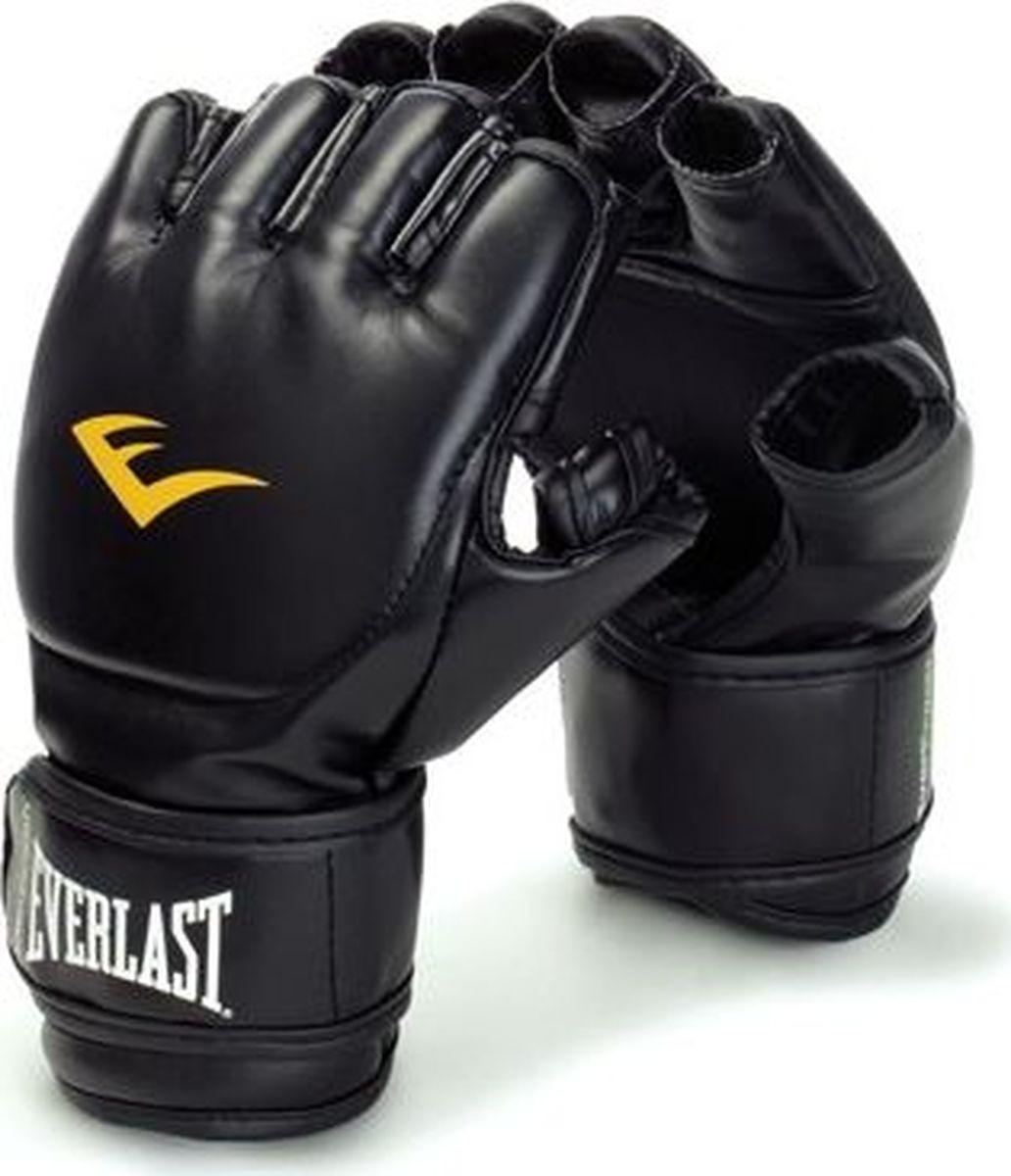 Перчатки для единоборств Everlast Martial Arts Grappling PU, 7560LXLU, черный, размер L/XL цена