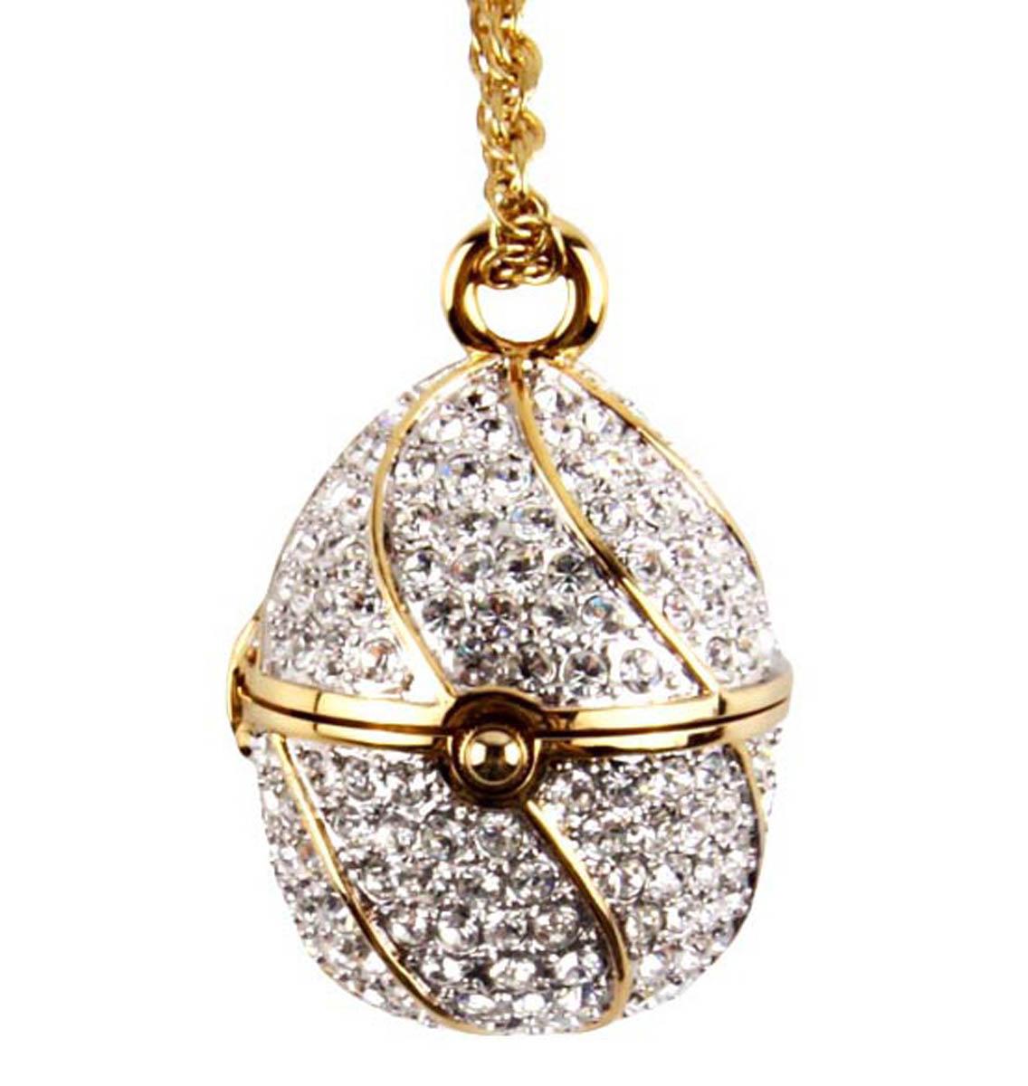 Подвеска/кулон бижутерный Антик Хобби ОС31802, Бижутерный сплав, Кристаллы, золотой, серебристый