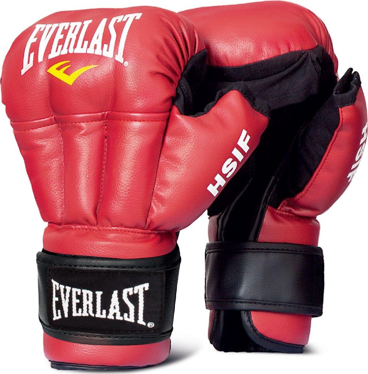 Перчатки для единоборств Everlast HSIF Leather, RF5112, красный, вес 12 унций