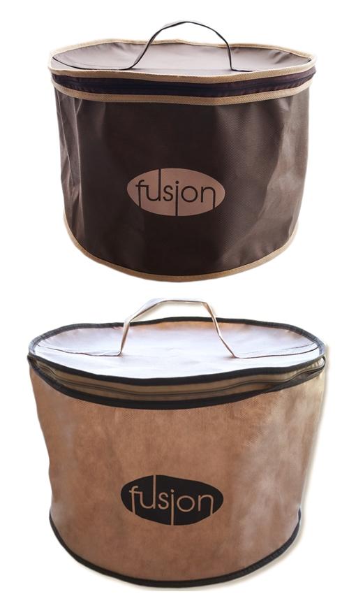 Тубус Fusion ФЬЮ-Тубус-33х33х20-2шт008-5-0, бежевый, коричневый цена