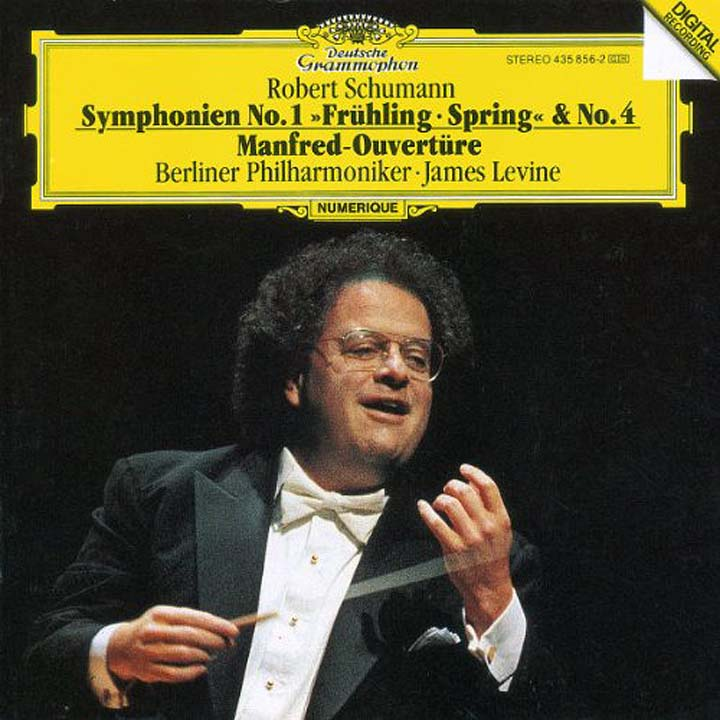 James Levine. Schumann: Symphonies Nos.1 & 4 strauss james levine elektra