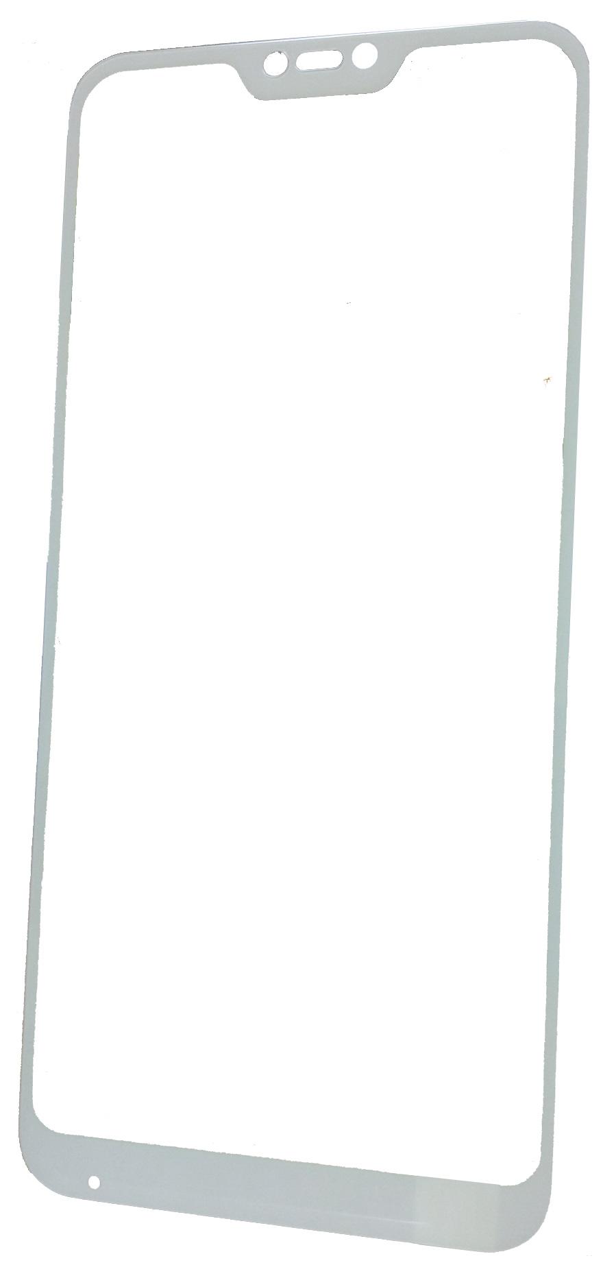 цена Защитное стекло Xiaomi Mi A2 Lite / Redmi 6 Pro (белая рамка), белый в интернет-магазинах