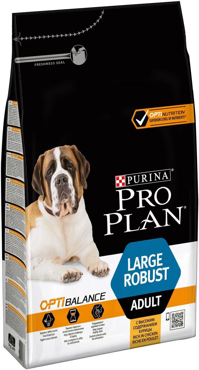 """Корм сухой Pro Plan """"Optihealth"""" для взрослых собак крупных пород с мощным телосложением, с курицей и рисом, 3 кг"""