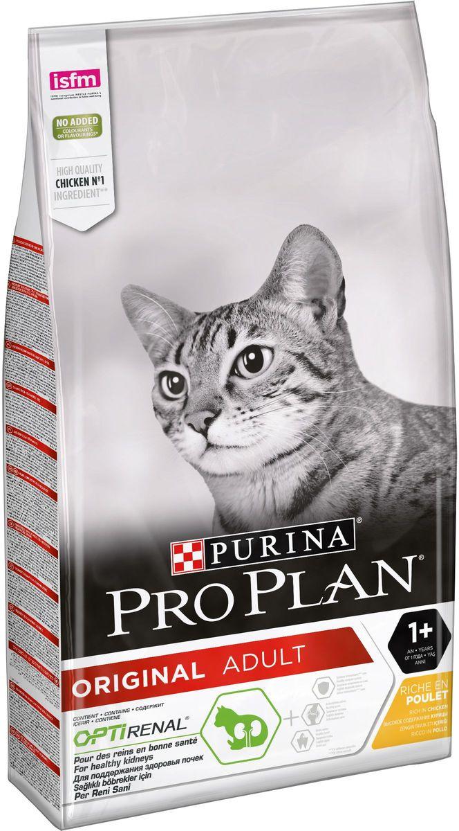 """Корм сухой Pro Plan """"Adult"""" для взрослых кошек, с курицей, 10 кг"""