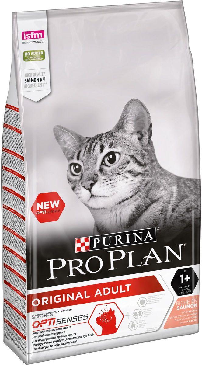 """Корм сухой Pro Plan """"Adult"""" для взрослых кошек, с лососем, 10 кг"""