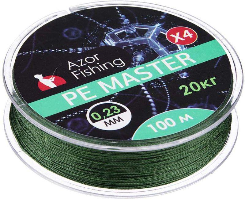 Леска AzorFishing PE Мастер, 100 м, 0,23 мм, 20 кг пескобетон мастер гарц м 300 каток 30 кг