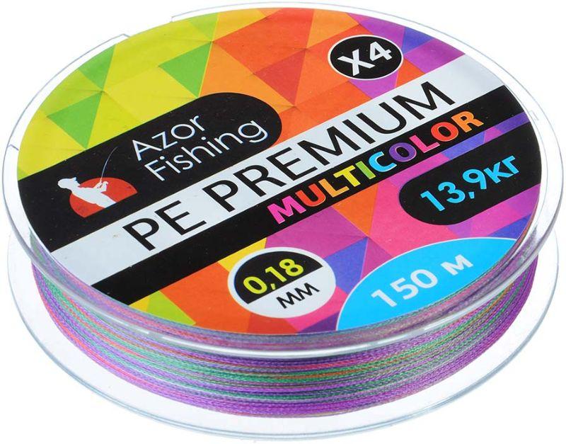 Леска AzorFishing PE Премиум, 150 м, 0,18 мм, 13,9 кг чехол для удочек azorfishing 150 см