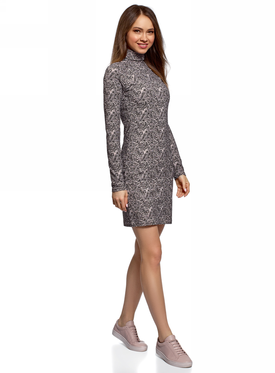 Платье oodji стильное офисное платье с воротником стойкой dioni
