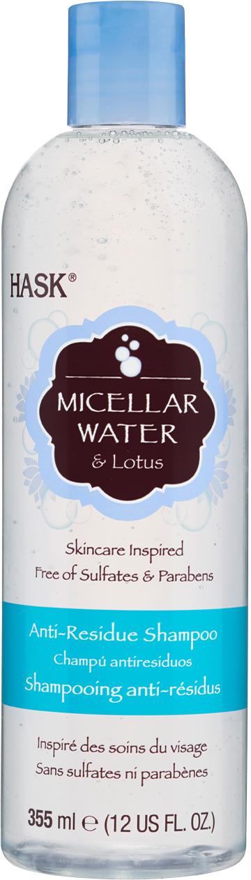Шампунь для глубокого очищения волос Hask Micellar with Lotus Water, с мицеллярной водой и экстрактом лотоса, 355 мл