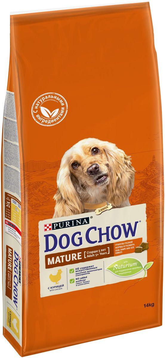 """Корм сухой """"Dog Chow"""" для взрослых собак старше 5 лет, с курицей, 14 кг"""