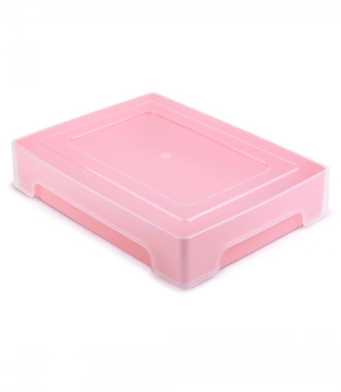 Коробка для хранения Стамм Контейнер хозяйственный Pastel, розовый