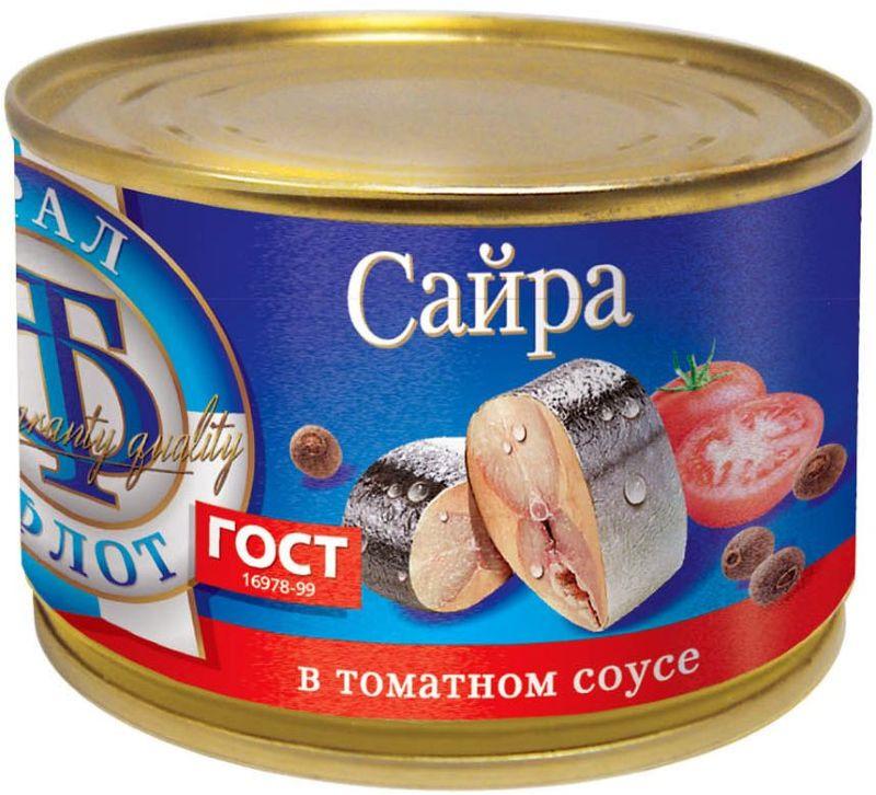 Морепродукты консервированные ТраллФлот 6816 Жестяная банка, 240 барс скумбрия атлантическая в томатном соусе 250 г