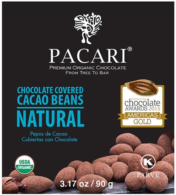 Суперфудс Pacari Какао бобы в органическом шоколаде, 90 г