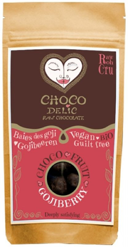 Суперфудс Chocodelic Органические ягоды годжи в живом шоколаде, 70 г