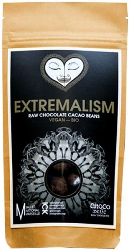 Суперфудс Chocodelic Органические очищенные какао-бобы в живом шоколаде, 70 г