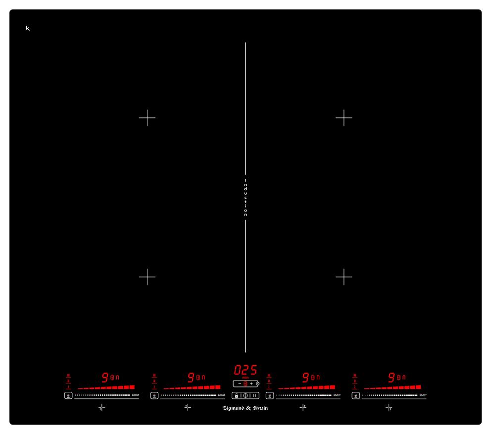 Варочная панель  CIS 321. 60 BX, черный Бустер нагрева на каждый элемент Объединение всех зон попарно и...