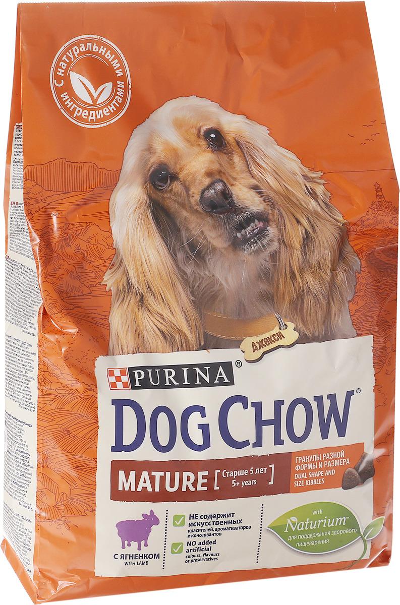 Корм сухой Dog Chow Mature Adult для взрослых собак старше 5 лет, с ягненком, 2,5 кг корм сухой dog chow senior для взрослых собак старше 9 лет с ягненком 2 5 кг