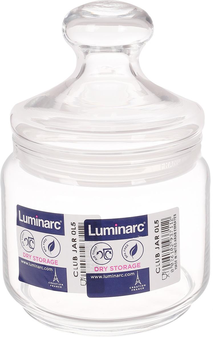 Банка для продуктов Luminarc Клуб, 500 мл банка для сыпучих продуктов luminarc boxmania 500 мл