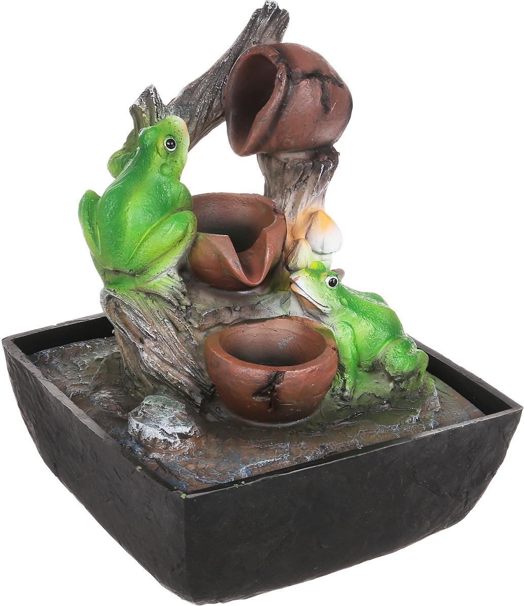 Домашний фонтан Green Apple Лягушки настольный, с подсветкой фонтан садовый green apple gwxf02930 чаша