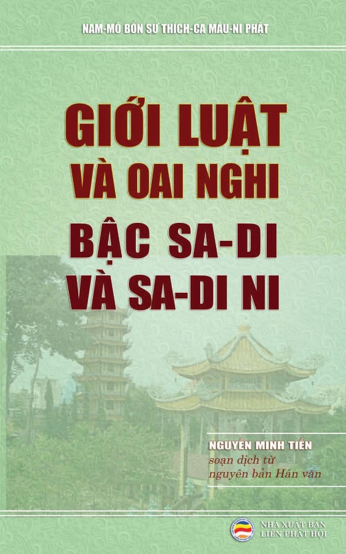 Nguyễn Minh Tiến Gioi luat va oai nghi bac sa-di va sa-di ni. Dich tu nguyen ban Han van Tu phan luat .am-vo-.uc bo поворотный стол m 70 96 для 3d фото