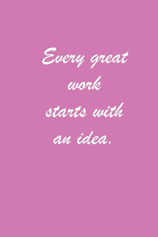Lizzie Timewarp Notebook (Every Great Work Starts with an Idea) lizzie timewarp notebook pink and white striped